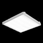 """Светодиодный светильник """"ВАРТОН"""" грильято накладной 588*588*50мм 36 ВТ 6500К с планками для подвеса  с функцией аварийного освещения V1-R3-00010-31A00-2003665"""