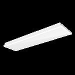 """Светодиодный светильник """"ВАРТОН"""" тип кромки Clip-In (V-Clip) 1200*300*60мм 36 ВТ 3000К IP40 RAL9010 с равномерной засветкой с рассеивателем опал ПММА в комплекте"""