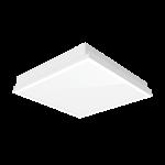 """Светодиодный светильник """"ВАРТОН"""" тип кромки Clip-In (V-Clip) 600*600*100мм 36W 3000К IP54 RAL9010 с равномерной засветкой с рассеивателем опал ПК в комплекте"""