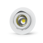 "Светильник LED ""ВАРТОН"" DL/R встраиваемый поворотный 40° 165*125мм 30W 3000K белый DALI (⌀155mm)"