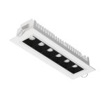 """Светодиодный светильник """"ВАРТОН"""" DL-STELLAR встраиваемый поворотный 199x62x45mm 15W 3000K 34° белый"""