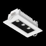 """Светодиодный светильник """"ВАРТОН"""" DL-STELLAR встраиваемый поворотный 120x62x45mm 8W 3000K 34° белый"""