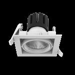 """Светодиодный светильник """"ВАРТОН"""" DL-TETRIS поворотный 35° 165*165*140mm 40W 3000K IP20"""