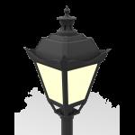"""Светодиодный светильник """"ВАРТОН"""" парковый Retro 40W торцевой 3000К"""
