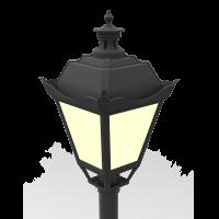 """Светодиодный светильник """"ВАРТОН"""" парковый Retro 40W торцевой 4000К"""