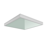 """Светодиодный светильник """"ВАРТОН"""" медицинский встраиваемый 595*595*55мм с защитным силикатным стеклом 54 ВТ 4000К класс защиты IP54"""